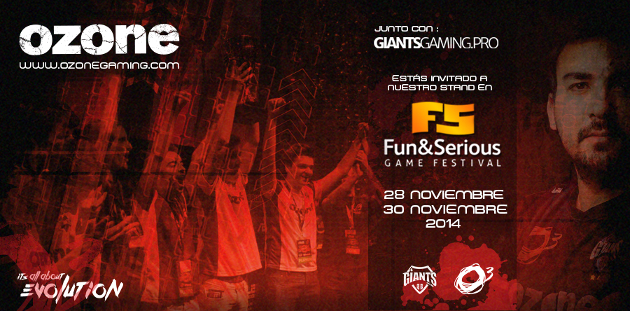 Ozone Gaming y Giants presentes en la Fun Zone de Fun & Serious 2014